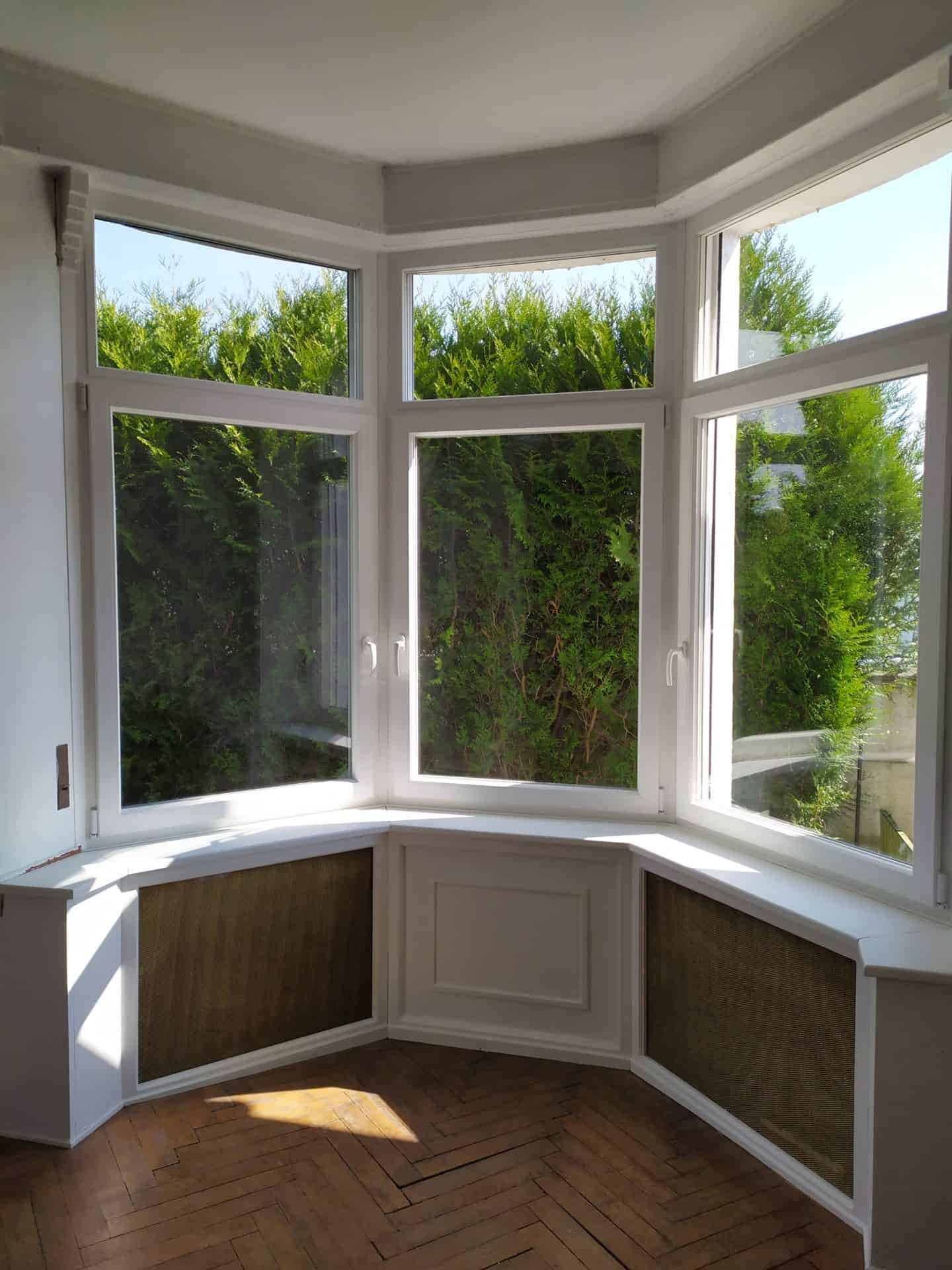 Pose de fenêtres véranda